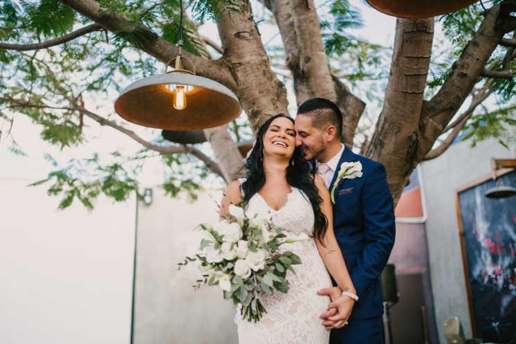 Maria and Mike's Wedding at MAPS Backlot