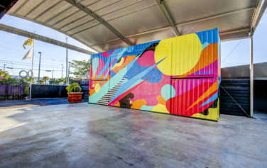 MAPS Backlot Hangar provides a covered outdoor space for private events.